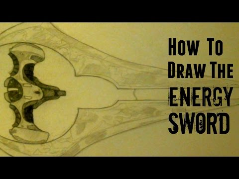 How to Draw Halo Weapons Ep 3. Energy Sword