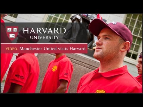 Manchester United visits Harvard University