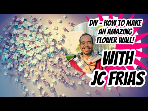DIY How to Make AMAZING Flower Wall backdrop photo Booth!  Wedding - Engagement- Baby Shower - decor