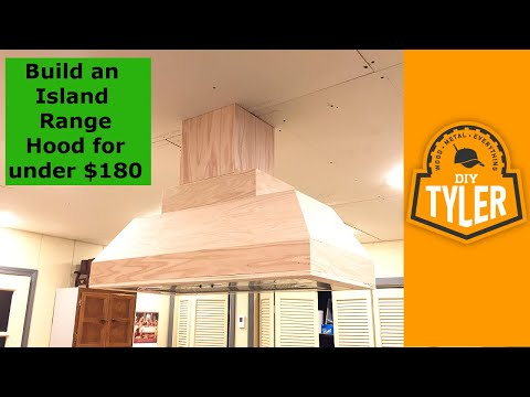 Build an Island Range Hood for under $180 -- 027
