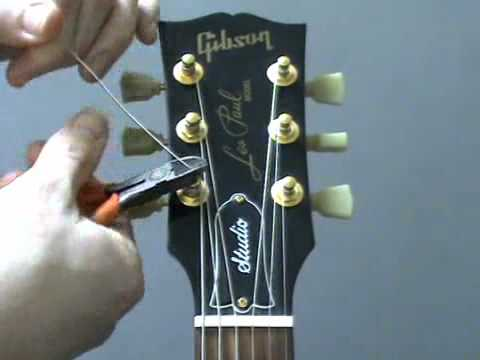 How to re string a guitar