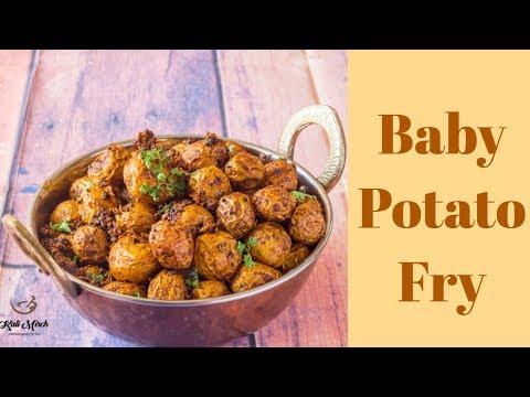 Potato Fry recipe-Baby Aloo Fry-Baby Potato Fry Recipe-Kalimirchbysmita-Ep298