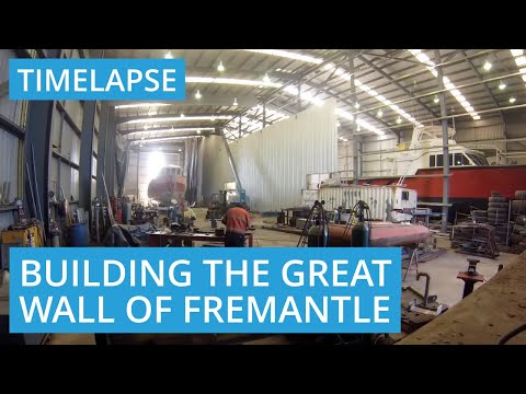 Roys Sheds Builds the Great Wall of Fremantle, WA 6160