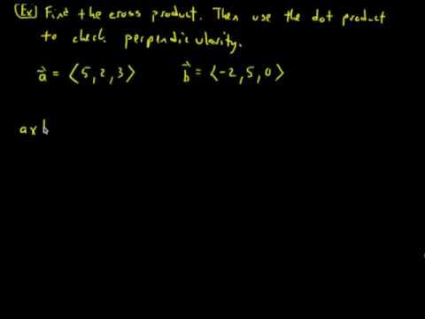 Perpendicular Vectors: Cross Product