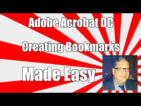 Adding BookMarks In Adobe acrobat DC - How to add a bookmark in Adobe Acrobat tutorial