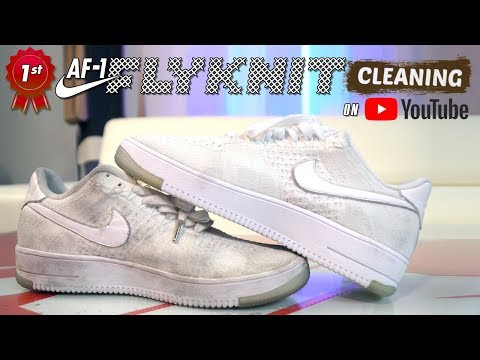 The best way to clean ALL WHITE Nike Flyknit Air Force 1s.