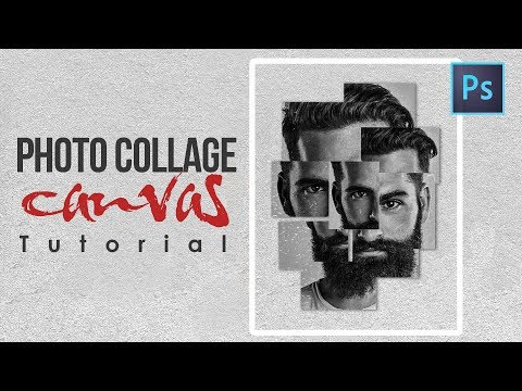 [Photoshop Tutorial] How to Create photo collage canvas Using Photoshop CC