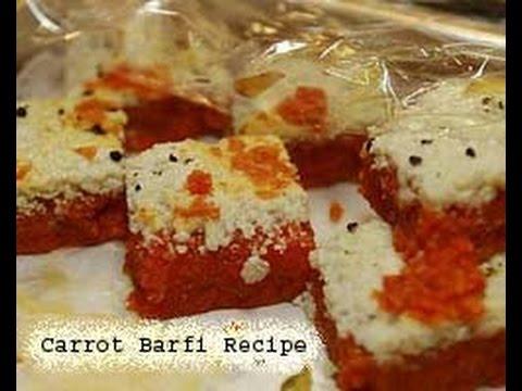 Carrot barfi recipe gajar barfi recipe in hindi english