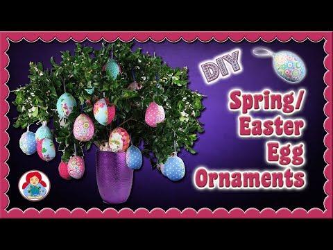 DIY | Spring/ Easter Egg Ornaments • Sami Dolls Tutorials