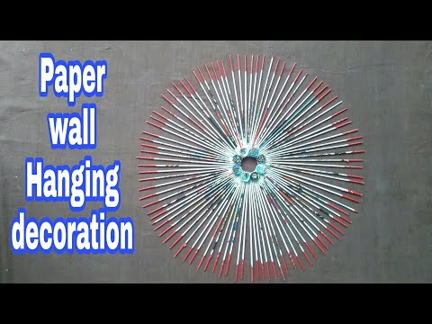 Magazine Wall Decor | home decoration ideas | paper wall hanging | diwali decoration |  ##070