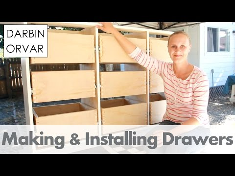 Making Drawers w/ Box Joints on the Table Saw for Built-ins