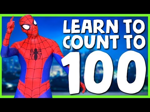 1⃣0⃣0⃣ Learn To Count To 100 With Spiderman 🕷 Spiderman Superhero Sing Along Songs 🕸