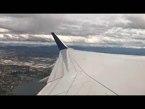Seattle, Washington - Takeoff at Seattle Tacoma SEATAC International Airport HD (2017)