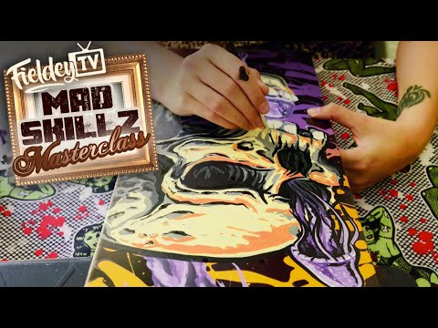 How to paint a skateboard with paint markers and acrylic inks | MSM 2