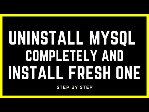 Uninstall MySql Completely and Install Fresh one