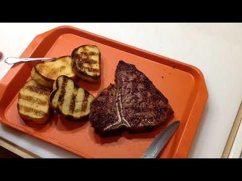 PorterHouse Steak and Texas Toast on The Weber Spirit Gas Grill