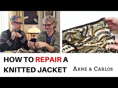 How to repair a knitted jacket by ARNE & CARLOS - Replacing the placket.