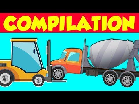 Construction Vehicles | Heavy Vehicles Compilation | Big Cars & Trucks