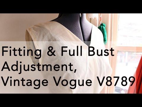 Fitting & Full Bust Adjustment, Vintage Vogue V8789   Vintage on Tap
