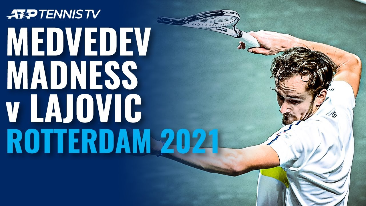 Daniil Medvedev Madness in Defeat to Lajovic 😬   Rotterdam 2021