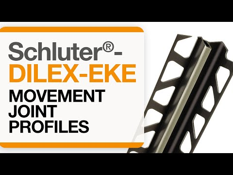 How to install a corner movement joint in tile: Schluter®-DILEX-EKE