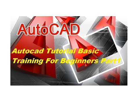 Auto cad Tutorial || 2017 Basic Training For Beginners || Part 1 ||
