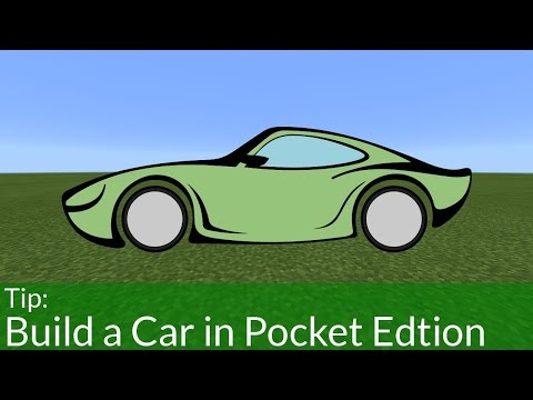 How To Build a Car in Minecraft | Pocket Edition