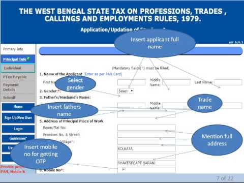 HOW TO GET ENROLL YOURSELF  IN  PROFESSIONAL TAX