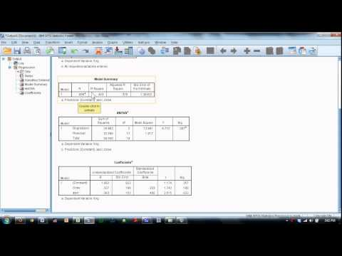 Multiple Correlation and Regression Analysis in SPSS