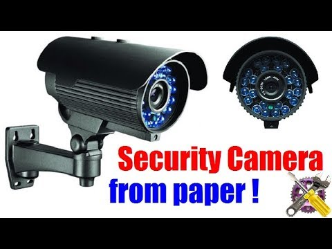 How To Make a CCTV Security Camera from paper !