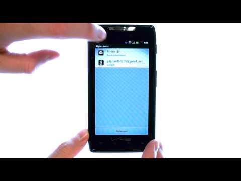 How Do I Backup Contacts Using Backup Assistant On My Motorola Droid RAZR or RAZR Maxx?