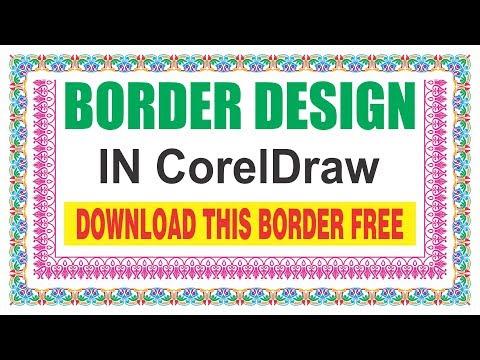 border design in coreldraw | CDTFB | corel draw in hindi, urdu
