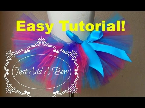 HOW TO MAKE AN EASY NO SEW TUTU - With Satin Ribbon Waistband