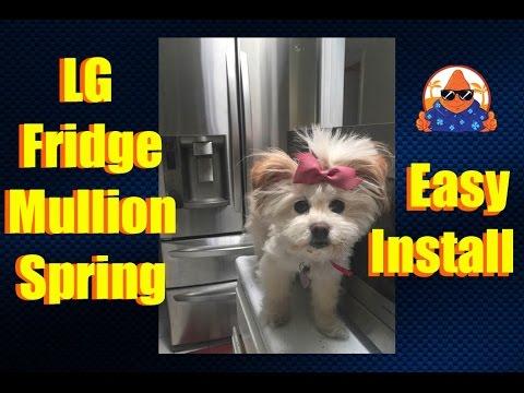 LG Fridge Spring Install How to DIY Replace Refrigerator Mullion Spring LMX28988ST - NachoTV