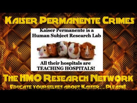 Kaiser Permanente Crimes Eletronic Medical Records Connected to Medical Research/Experiments