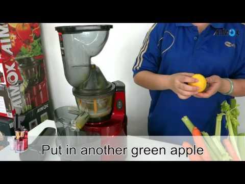 Aimox Slow Juicer Cold Press Apple Mix Lemon Juice