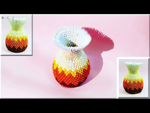 How to make 3d origami vase 52