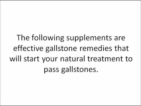 Gallbladder Pain Remedy: How to Pass Gallstones Naturally
