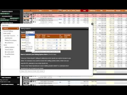 Adding Sportsbook Insider Custom Alerts - Sports Insights Video