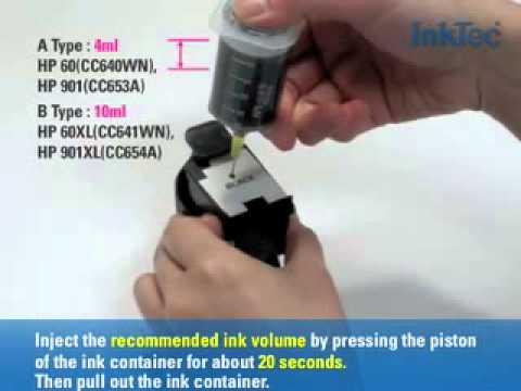 Refill Kit for HP 60/60XL/901/901XL Black