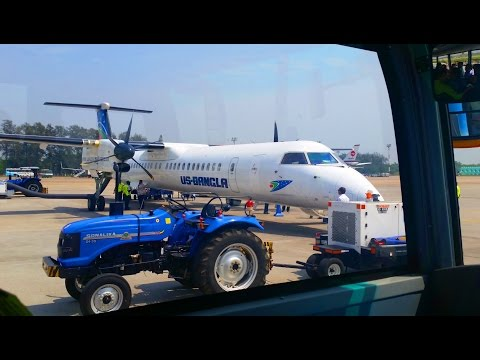 Plane Journey from Dhaka to Cox's Bazar   US-Bangla Airlines