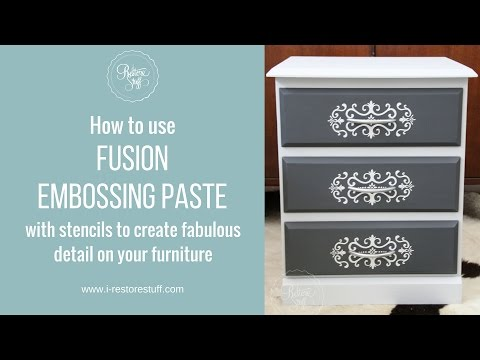 Fusion Embossing Paste with Stencil on Furniture - PakVim