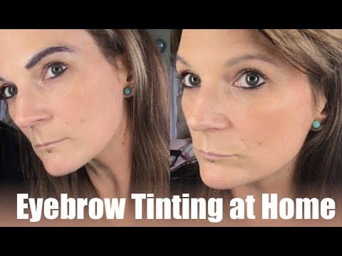 Tint your eyebrows at home and save money