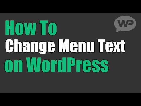 Change the Title of a Page or Post in WordPress Menu