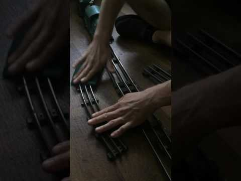 Cleaning Antique Lionel O and Standard Gauge Tubular Track at Ruth Hanna's
