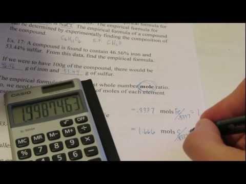 Chemical Formulas: Part 6, Percent Composition & Empirical Formula