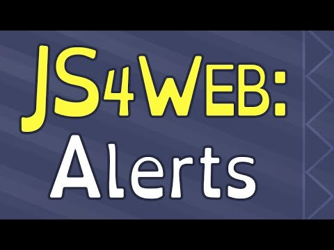 Javascript Alerts for Web Design
