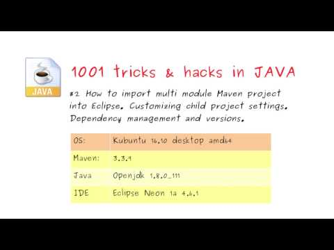 #2 How to import multi module Maven project into Eclipse