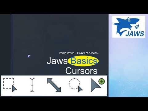 Jaws Basics for Beginners Part 2 The Cursors