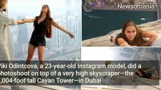Russian model risks life in death-defying photo-shoot in Dubai